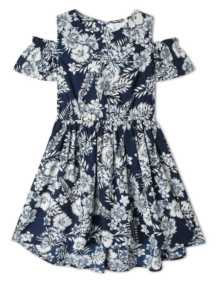 Woven Cold Shoulder Dress image 1