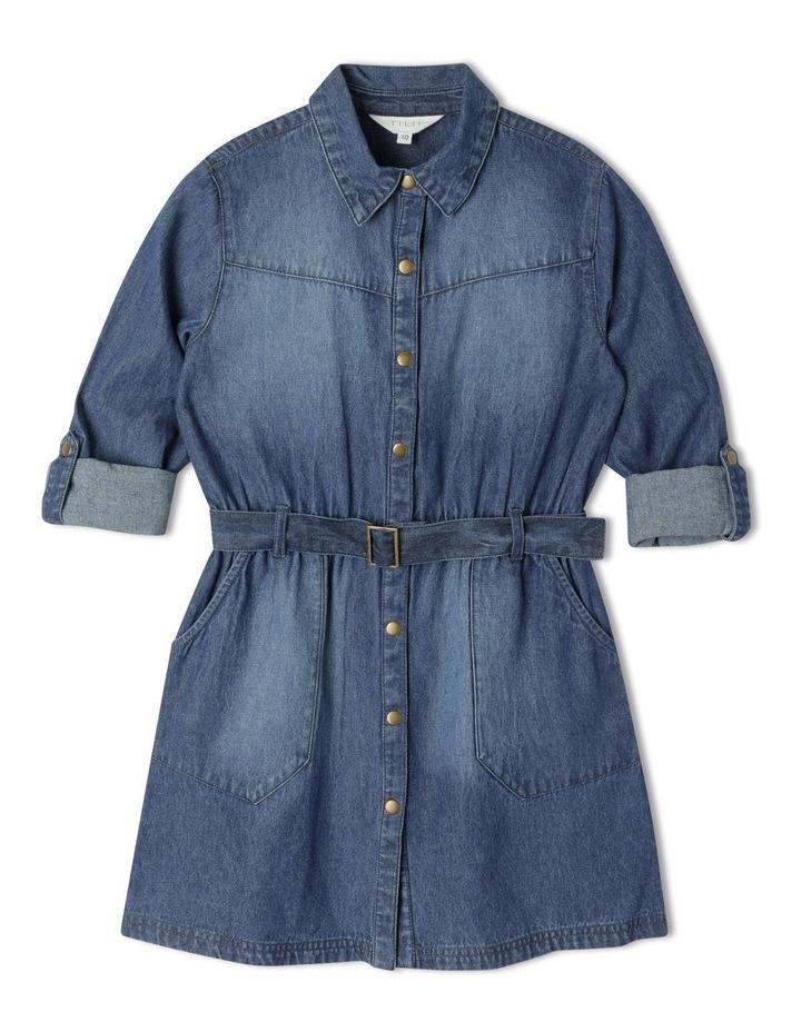 Denim Shirt Dress image 1
