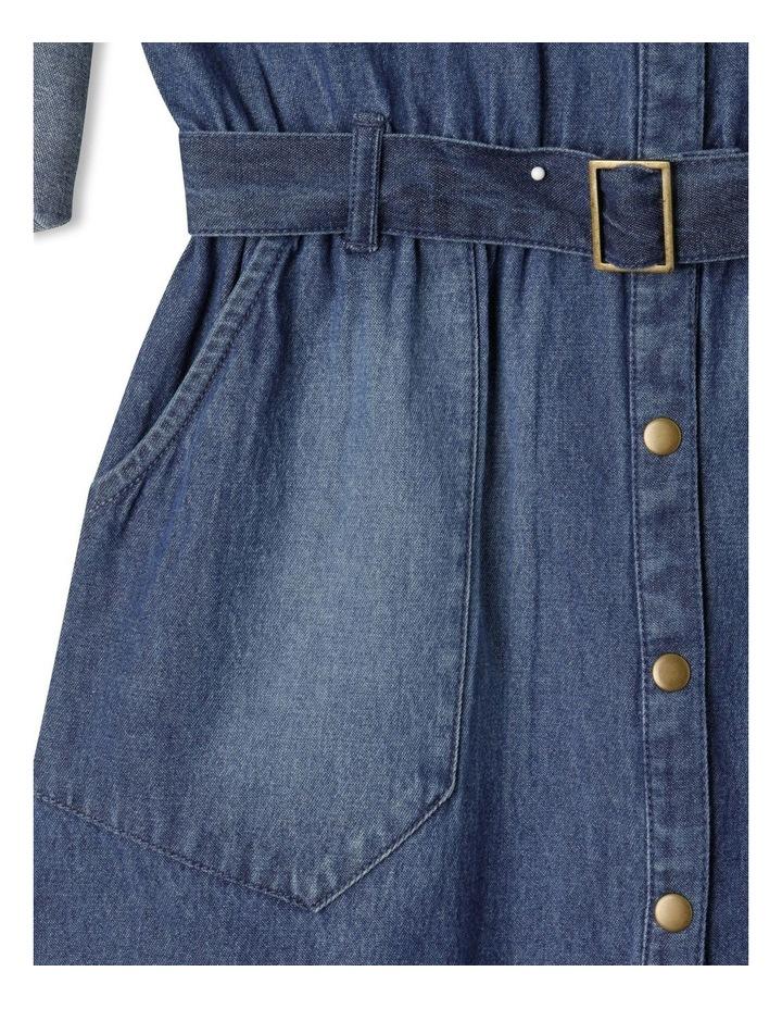 Denim Shirt Dress image 5