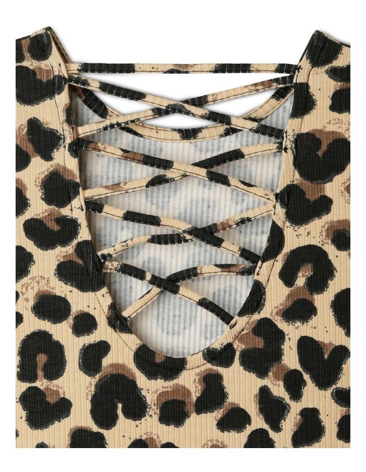 Long-Sleeve Rib-Knit Skater Dress image 4
