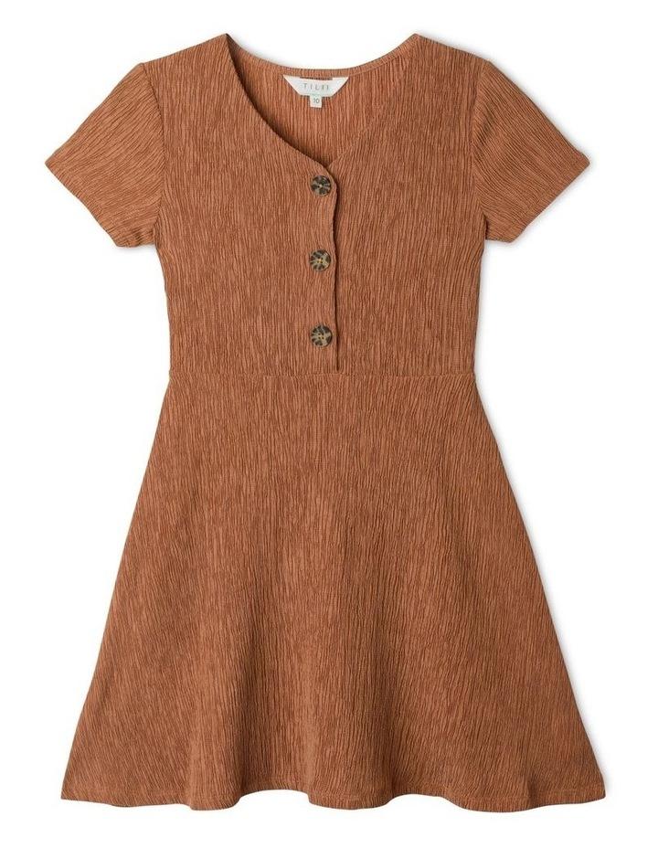 Crinkle Knit Skater Dress image 1