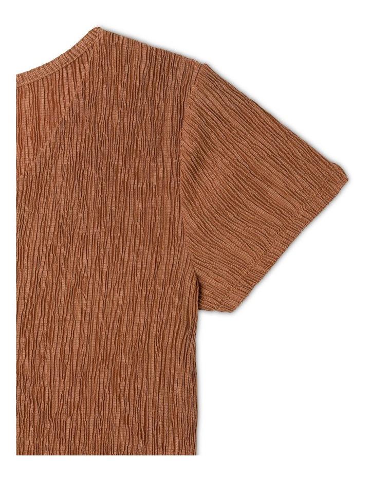 Crinkle Knit Skater Dress image 3