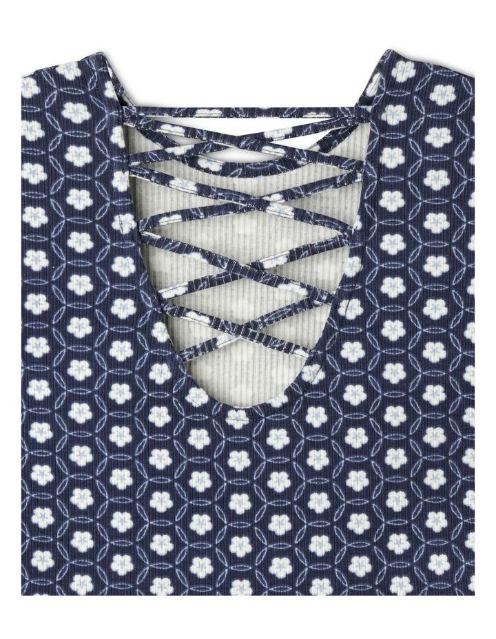 Long Sleeve Rib Skater Dress image 3