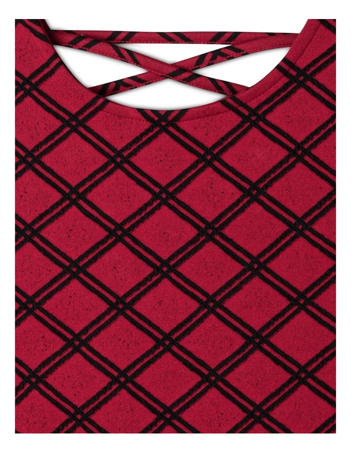 Knit Textured Skater Dress image 2