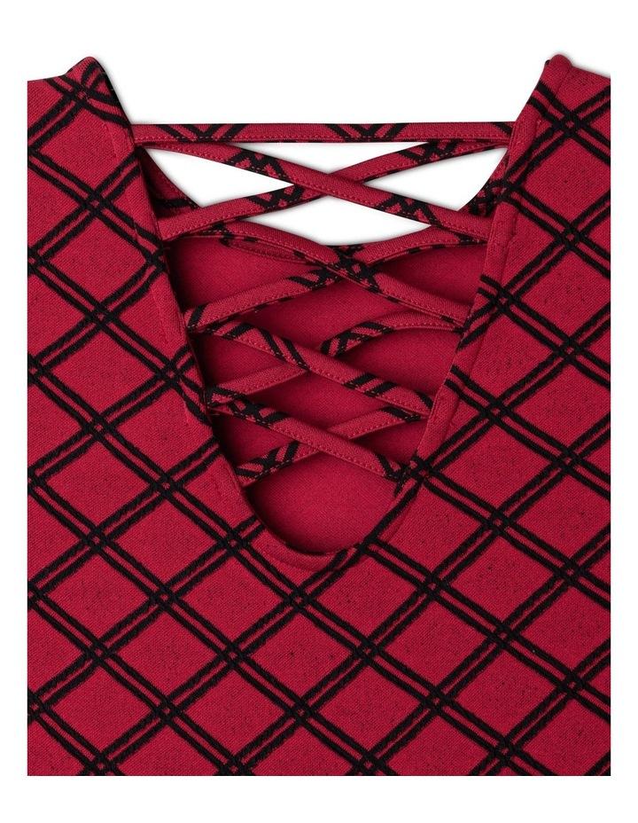 Knit Textured Skater Dress image 4