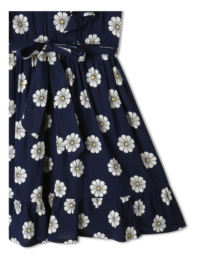 Woven Princess Frill Dress Navy image 4
