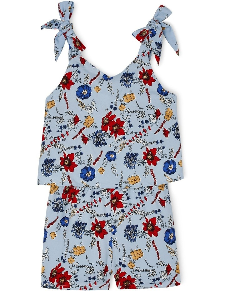 Woven Playsuit with Bow Straps image 1