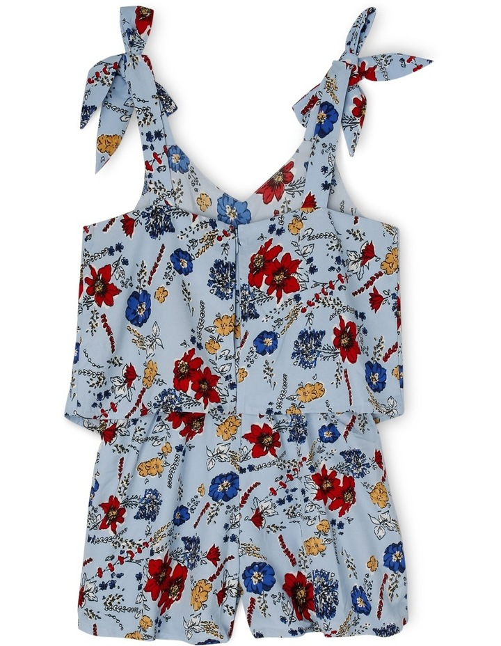 Woven Playsuit with Bow Straps image 2