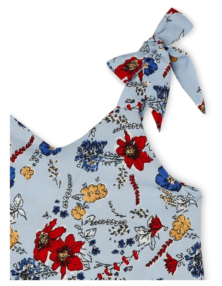 Woven Playsuit with Bow Straps image 3