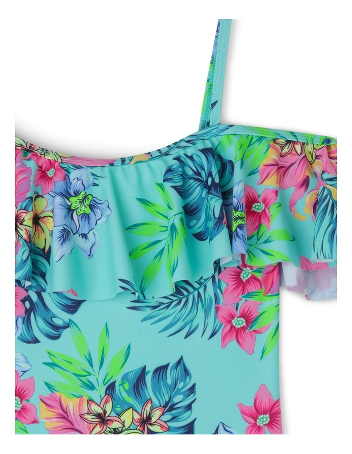 Tropical Print Bathers With Off The Shoulder Frill Sleeves image 2
