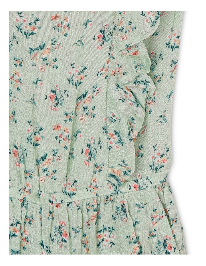 Floral Print Woven Playsuit With Frills image 3