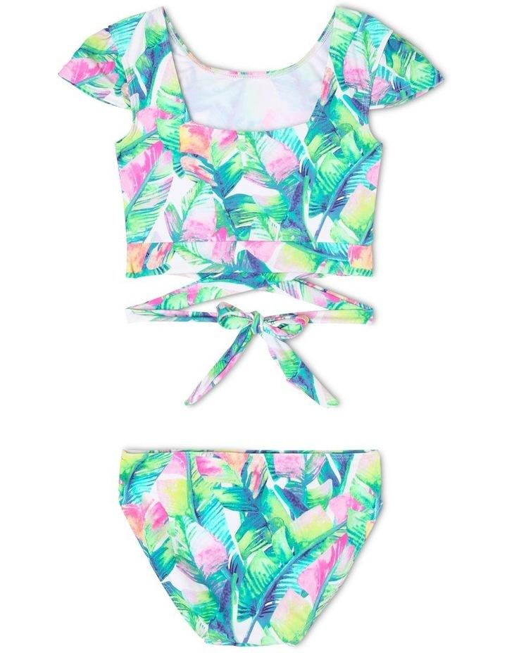 Cropped Rash Vest Set with Wrap Detail image 2