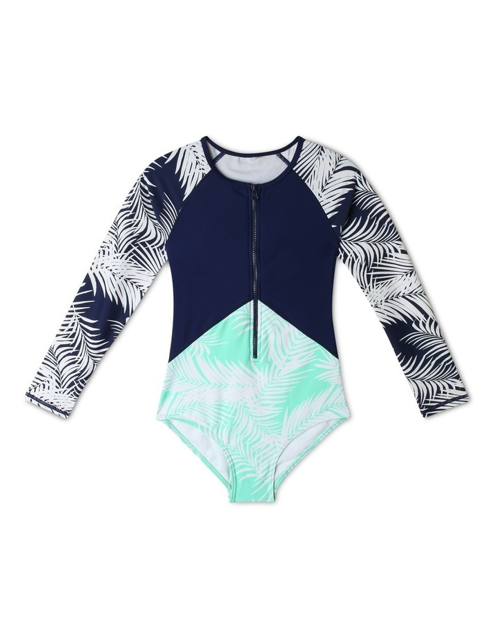 Chlorine-Resistant Long-Sleeve One-Piece Swimsuit image 1