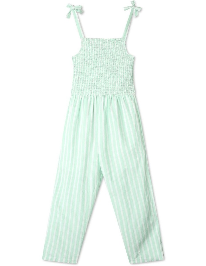 Linen Shirred Jumpsuit image 1