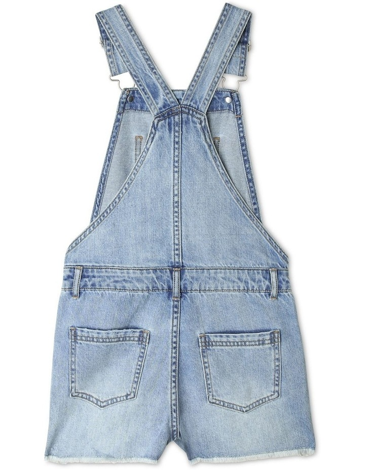 Distressed Denim Overalls image 2