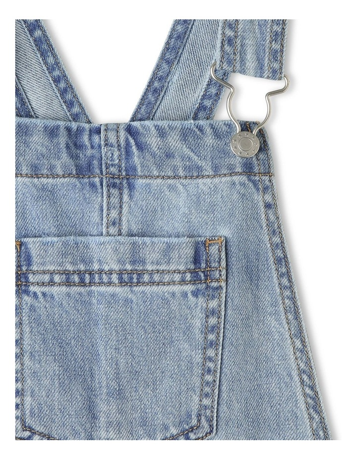 Distressed Denim Overalls image 3