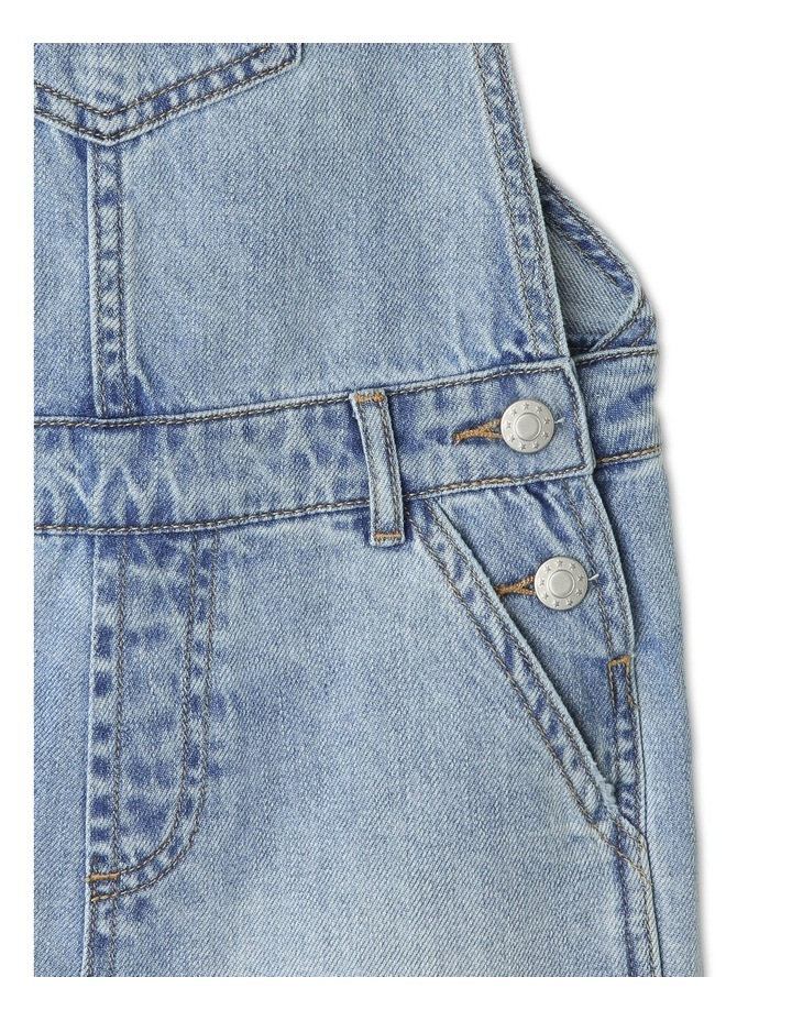 Distressed Denim Overalls image 4