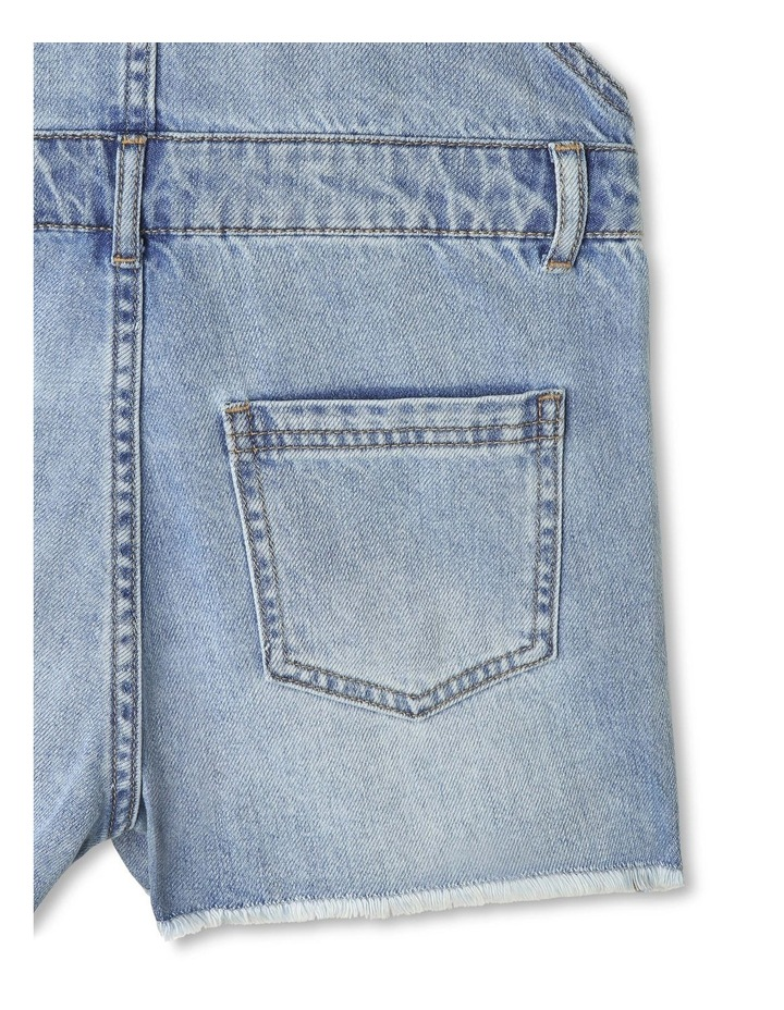 Distressed Denim Overalls image 5