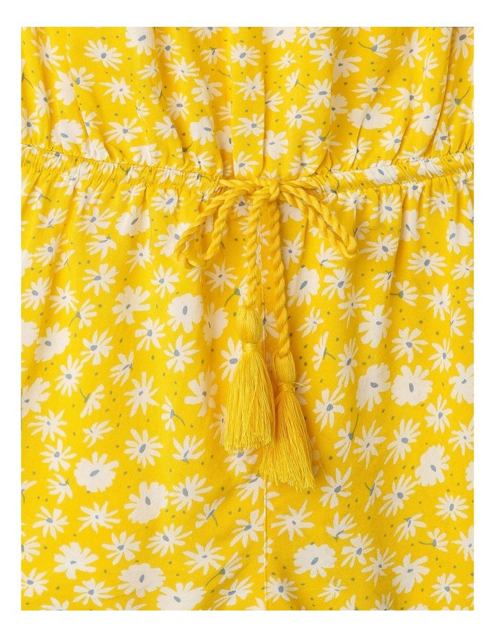Off The Shoulder Frill Playsuit in Yellow image 2