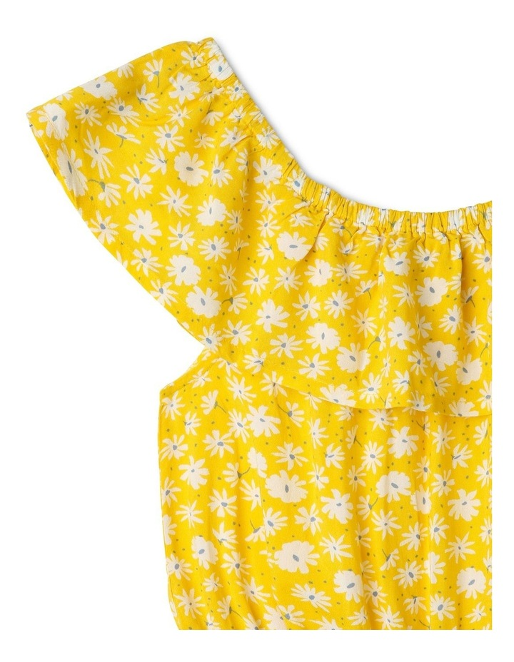 Off The Shoulder Frill Playsuit in Yellow image 3
