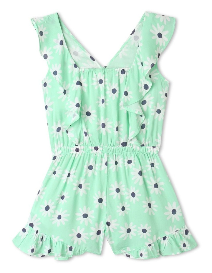 Woven Frill Playsuit Mint image 5