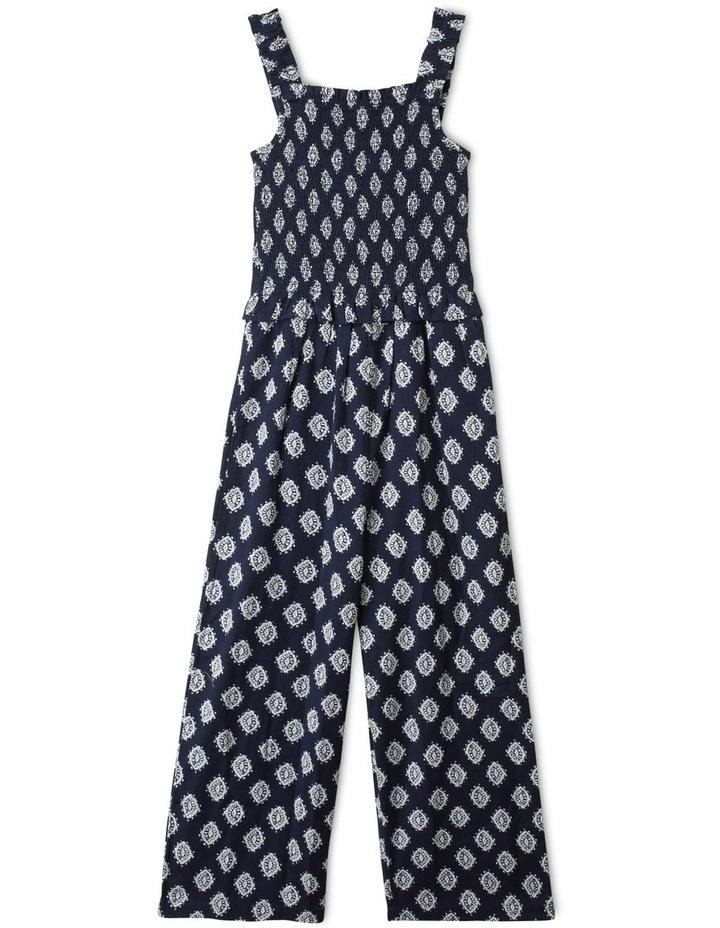 Linen Shirred Jumpsuit image 1