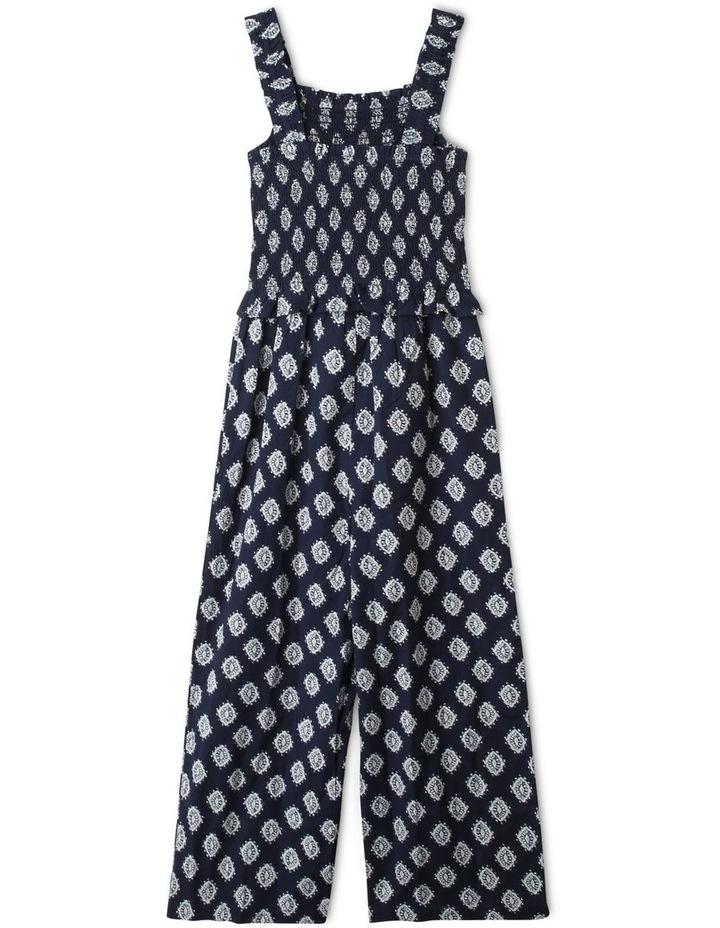 Linen Shirred Jumpsuit image 3