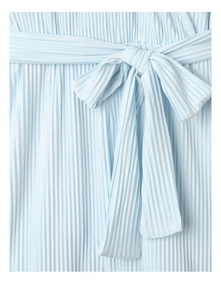 Textured Knit Playsuit Light Blue image 2