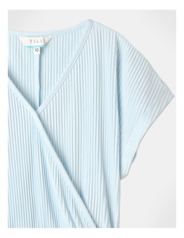 Textured Knit Playsuit Light Blue image 3