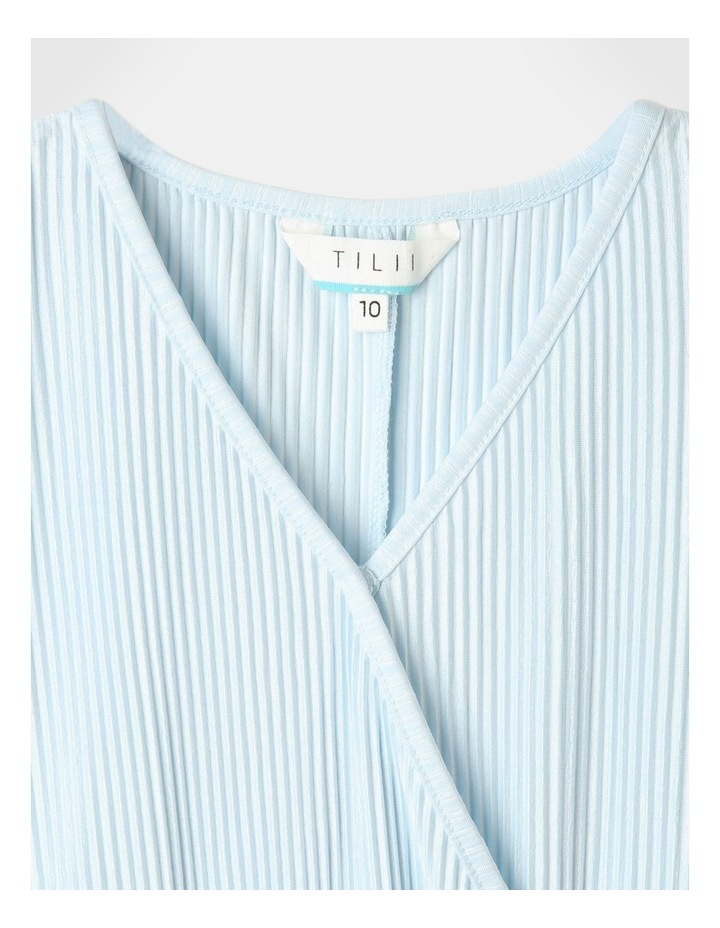 Textured Knit Playsuit Light Blue image 4