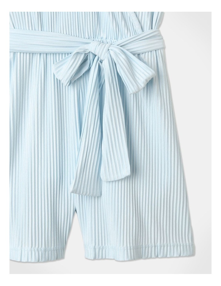 Textured Knit Playsuit Light Blue image 5