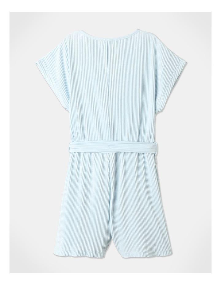 Textured Knit Playsuit Light Blue image 6
