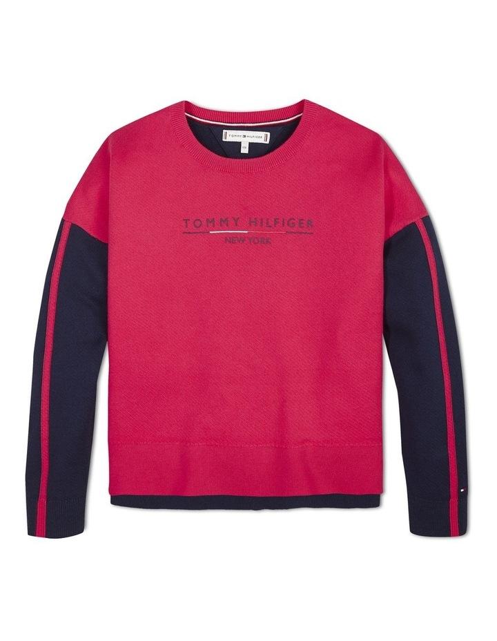 Colour-Blocked Cotton Sweater image 1