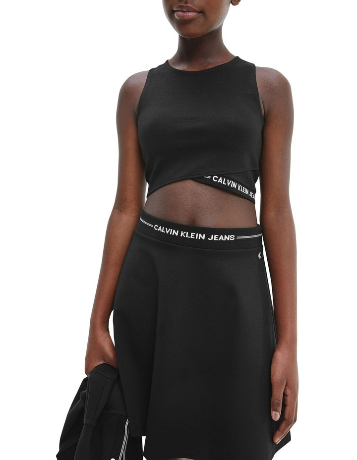 Milano Jersey Cropped Top Black image 3