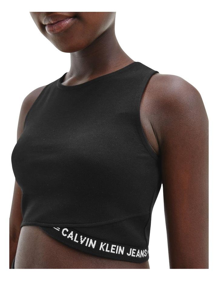 Milano Jersey Cropped Top Black image 4