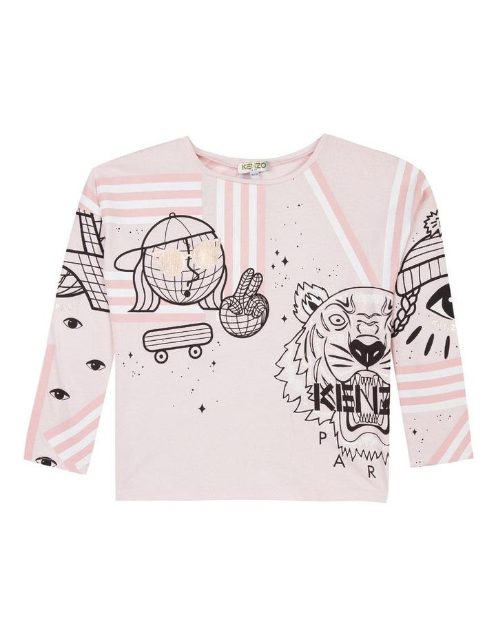 Girls Graphic Seasonal Tiger T-Shirt KM10158 image 1