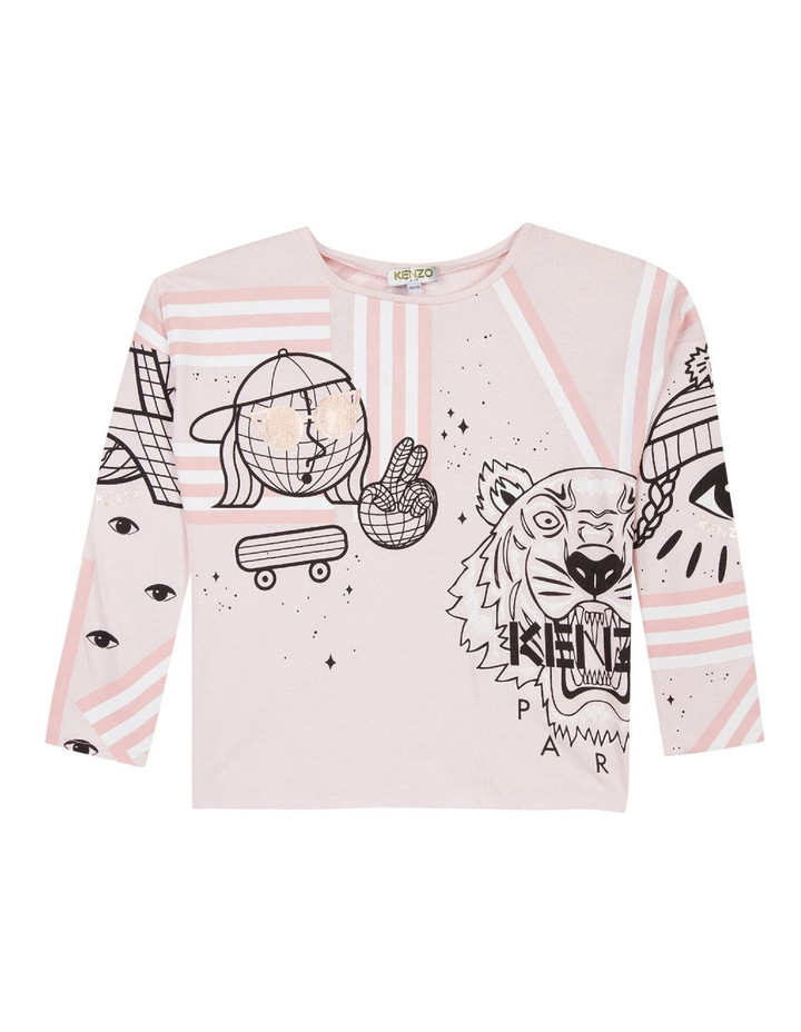 Girls Graphic Seasonal Tiger T-Shirt KM10158 image 1