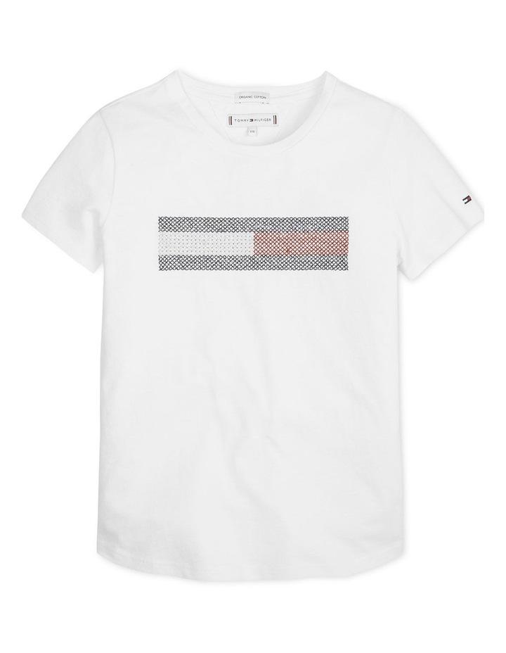 Metallic Flag Embroidered T-Shirt image 1