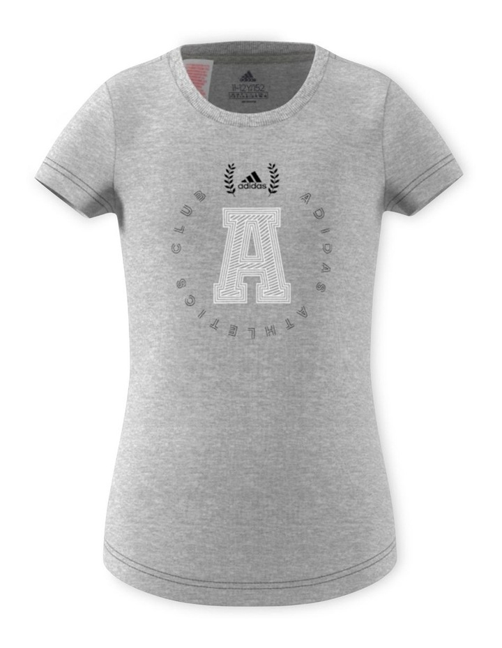 Junior Girls adidas Athletics Club Graphics TShirt image 1