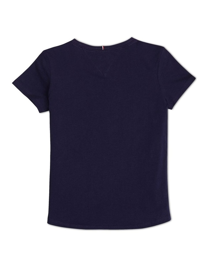 Girls 8-16 Organic Cotton High Shine Logo T-Shirt image 2