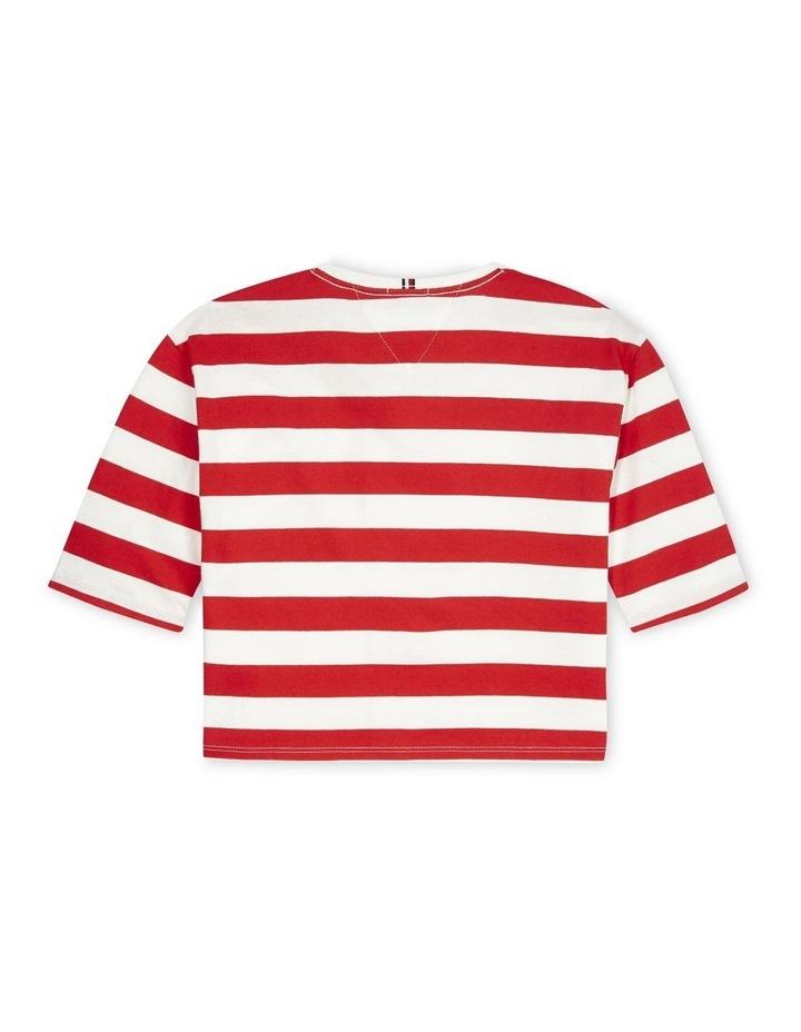Organic Cotton Flag Stripe Cropped T-Shirt (Girls 8-16) image 2