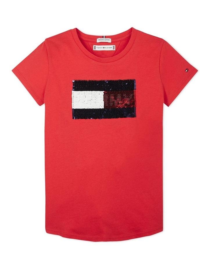 Flag Flip Sequins Tee Short Sleeve image 1
