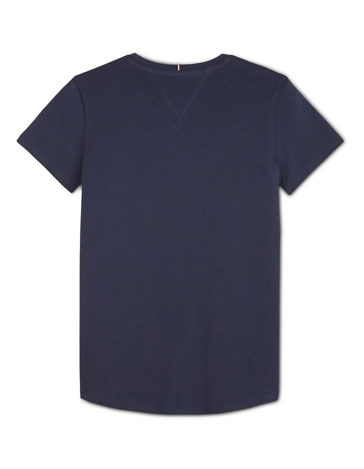 Tommy Icons Colour-Blocked Logo Pure Cotton T-Shirt image 2
