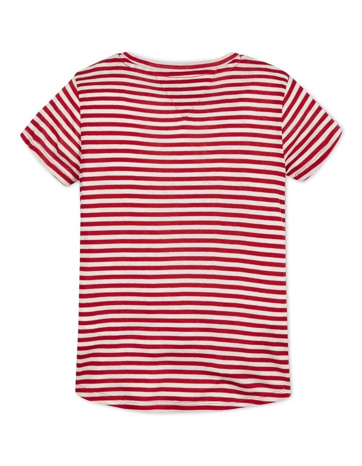 Girls Stripe Knit Top Short Sleeve image 2