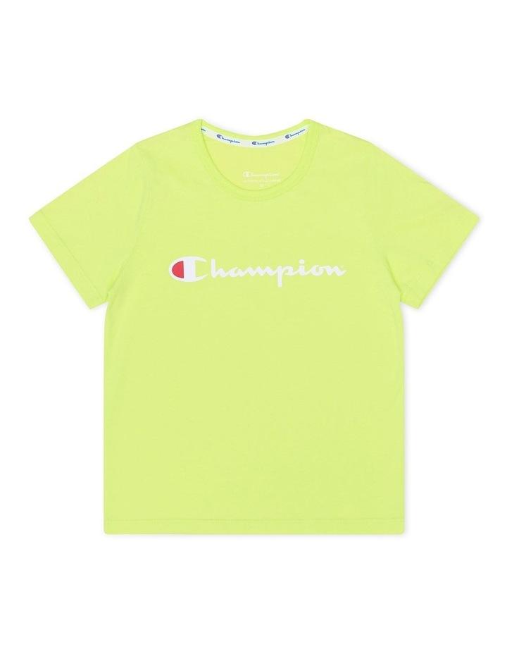 Script Short Sleeve Tee Yellow image 1