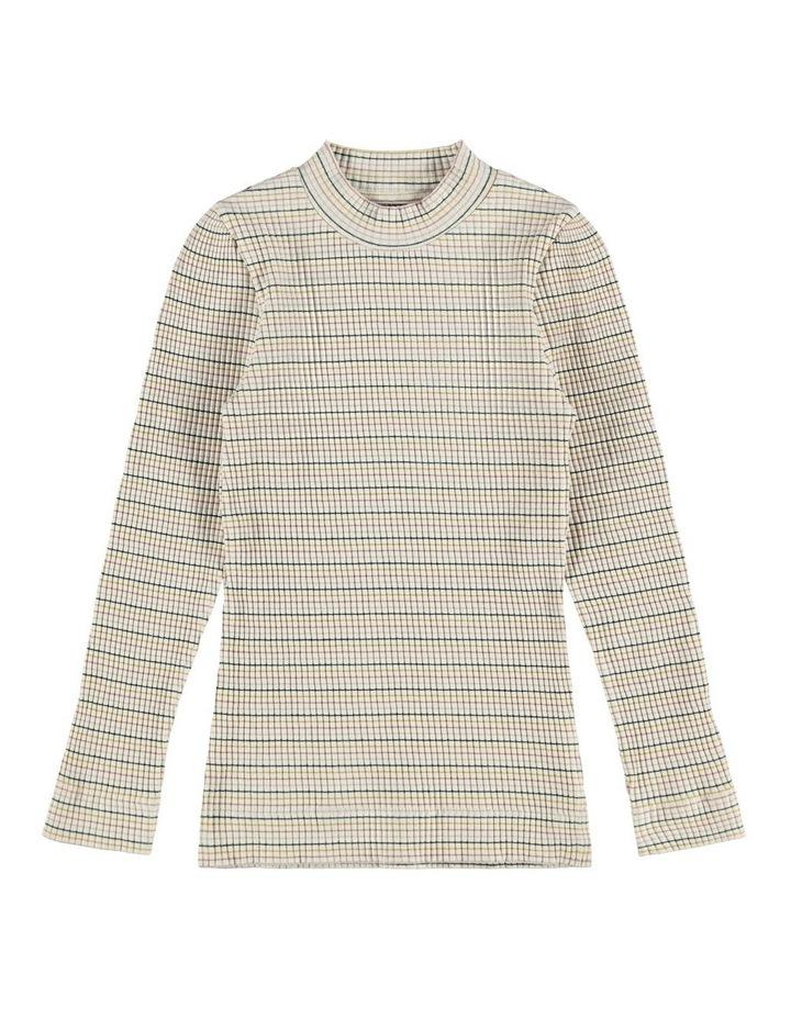 Thelma Slim Long Sleeve Top Grey image 1