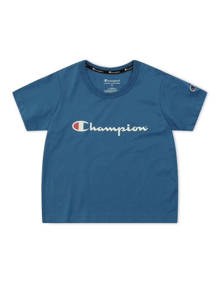 Script Boxy T-Shirt Blue image 1