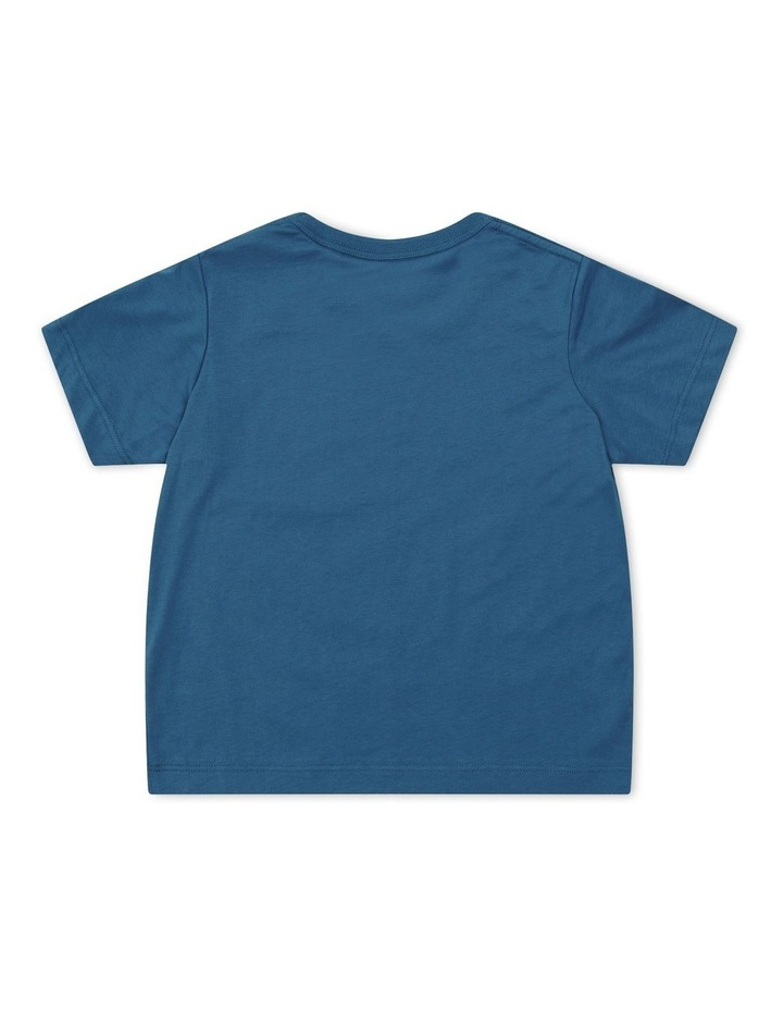 Script Boxy T-Shirt Blue image 2