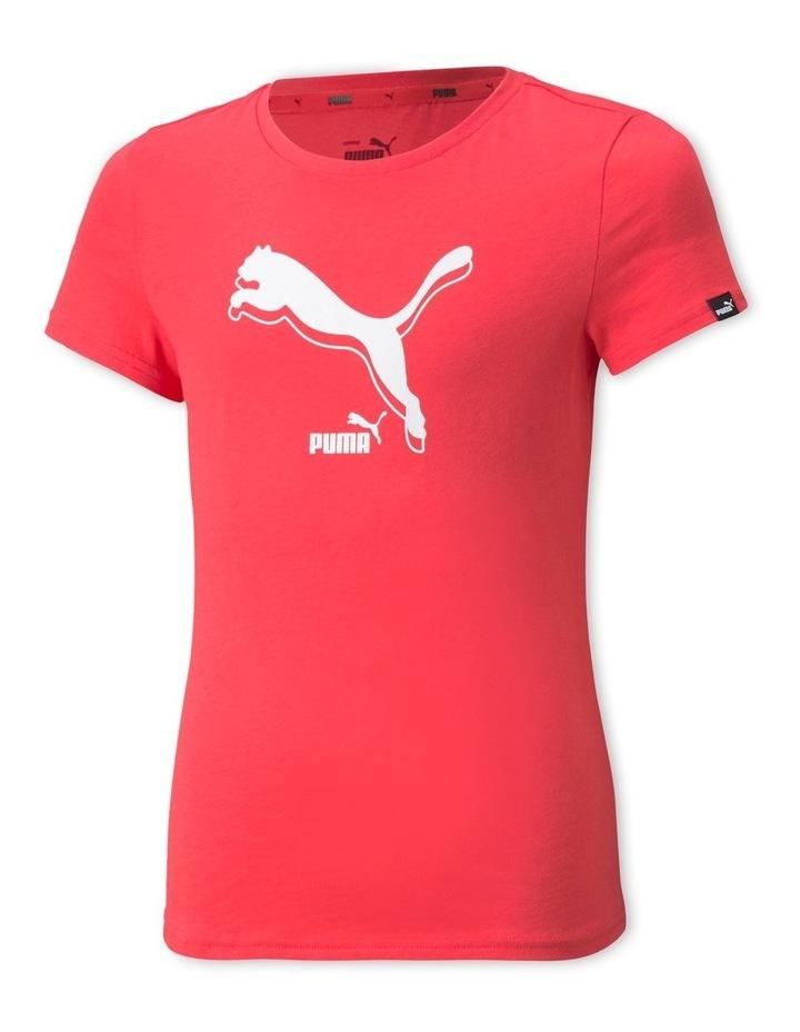 Power Logo Crew Neck T-Shirt Pink image 1
