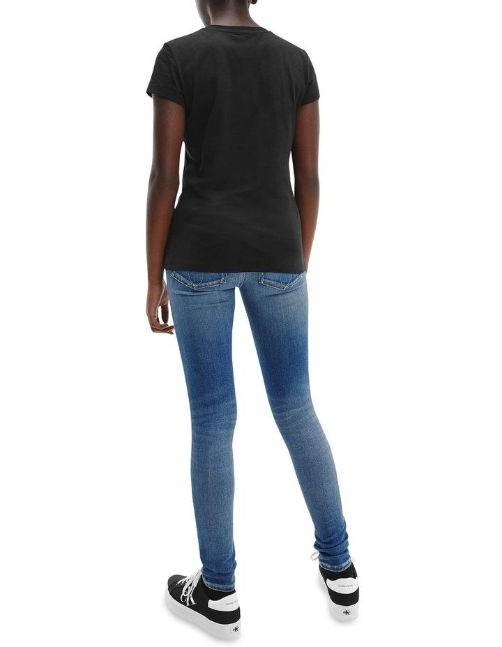 Metallic Logo Organic Cotton Slim T-Shirt Black image 5
